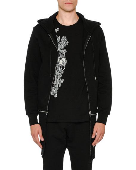 Alexander McQueen Long Zip-Front Two-Piece Hoodie