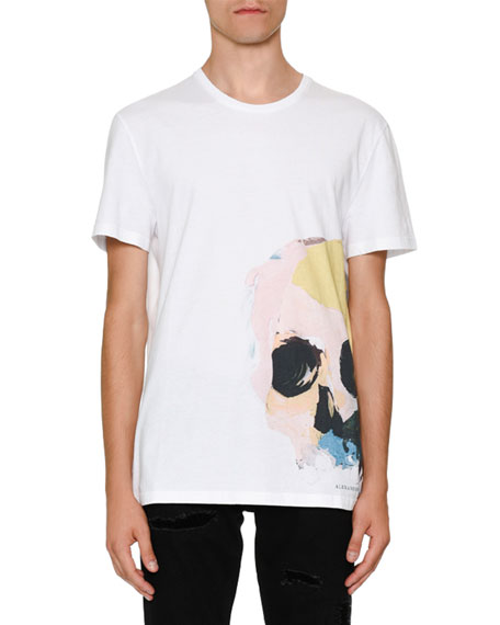 Alexander McQueen Painted Skull Graphic T-Shirt