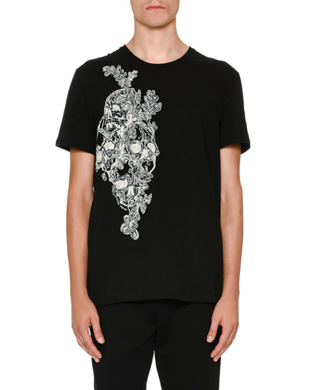 Alexander McQueen Printed Skull Graphic T-Shirt