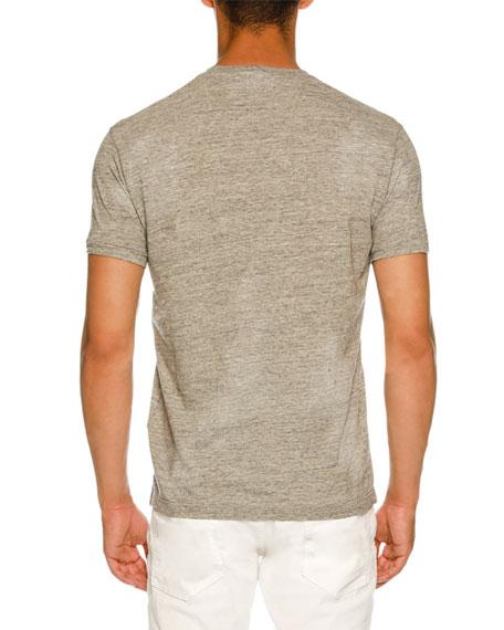 Logo-Front Melange T-Shirt