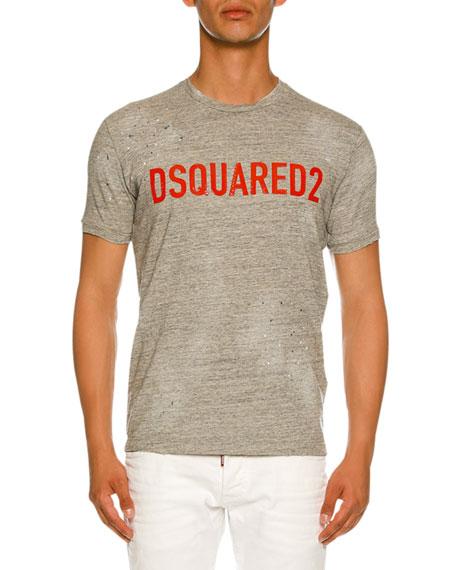 Dsquared2 Logo-Front Melangé T-Shirt