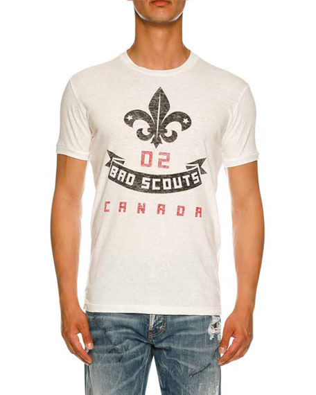 Dsquared2 Bad Scouts Logo Graphic T-Shirt