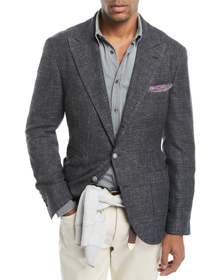 Brunello Cucinelli Prince of Wales Check Jacket and