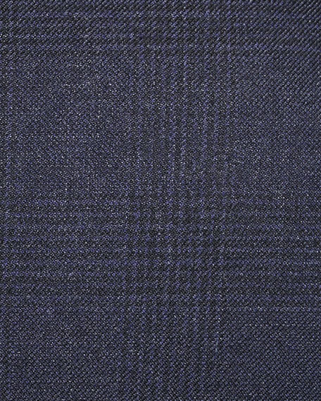 Ralph Lauren Tonal Glen Plaid Wool Blazer