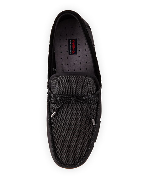 Image 2 of 4: Swims Mesh & Rubber Braided-Lace Boat Shoe
