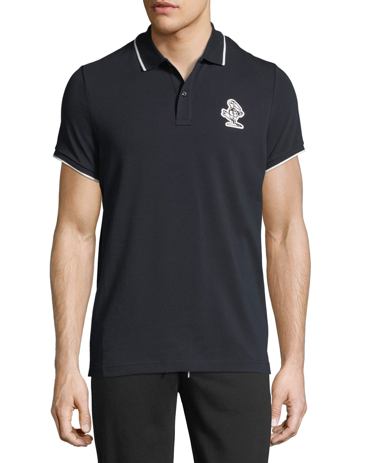 moncler polo shirt light blue