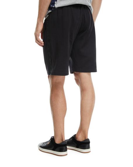 Nylon Sweat Shorts with Logo Taping