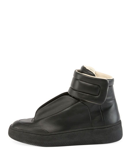 Men's Future Leather Redux High-Top Sneakers, Black
