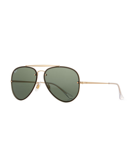 Ray-Ban RB3584 Aviator Sunglasses, Gold