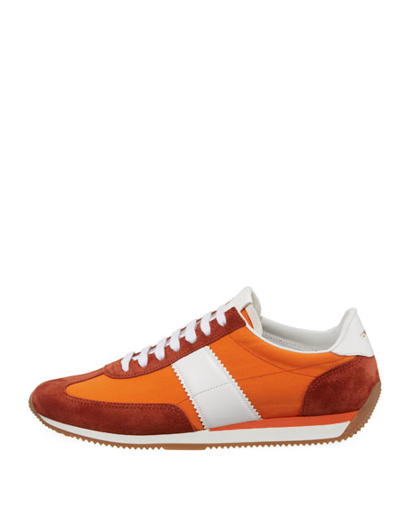 Men's Suede-Trim Mesh-Upper Low-Top Sneakers