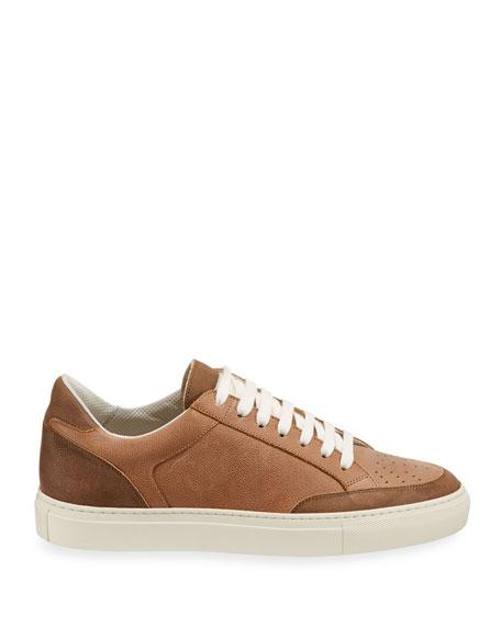Brunello Cucinelli Men's Colorblock Leather Low-Top Sneakers