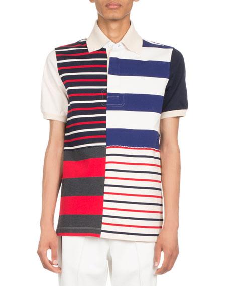 Multi-Striped Polo Shirt
