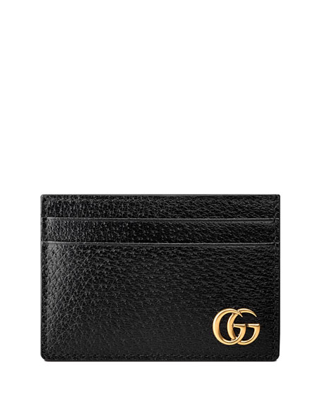 Gucci Men's Leather Credit Card Case with Money Clip