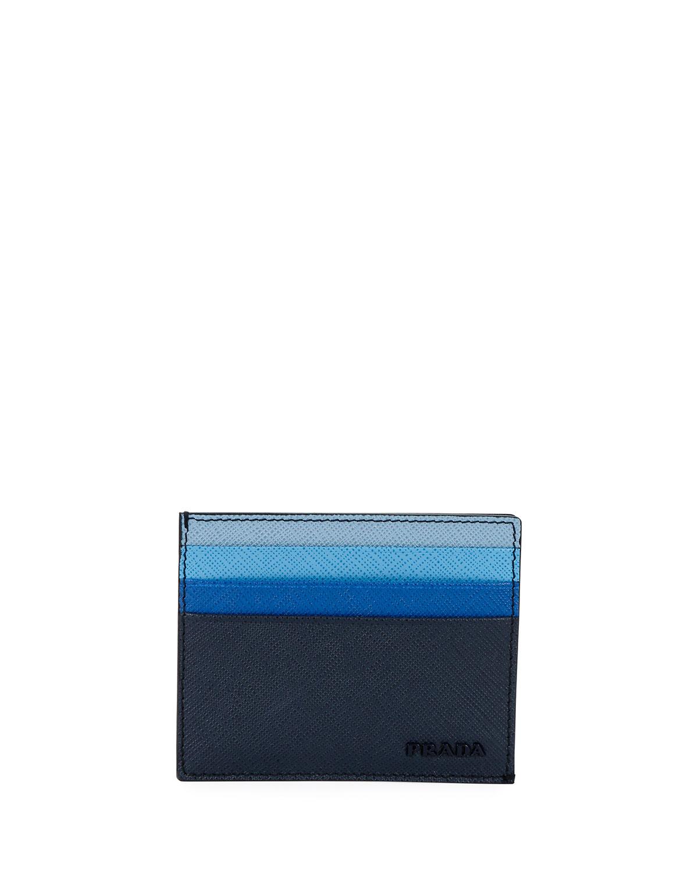04f93af7a6be Prada Multicolor Saffiano Leather Card Case | Neiman Marcus
