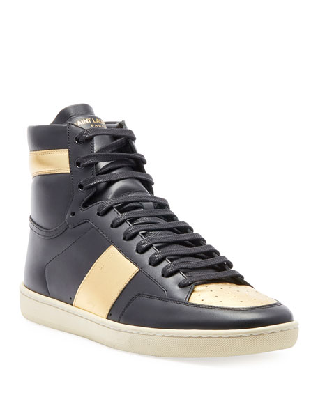 Men's Metallic High-Top Sneakers