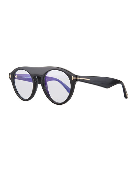 TOM FORD Christopher Round Acetate Sunglasses