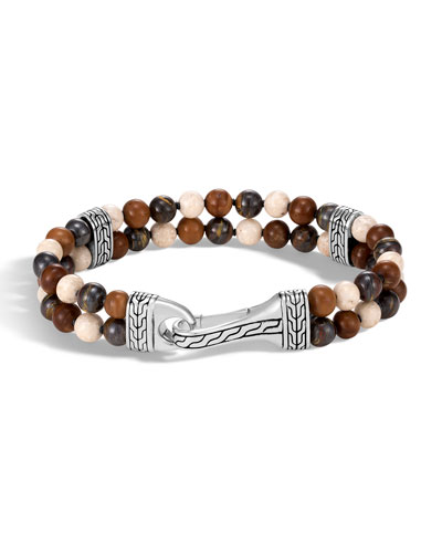 Men's Classic Chain Bead Mix Bracelet