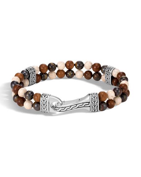 Men's Classic Chain Bead Mix Bracelet