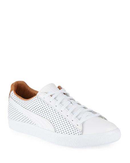 Men's Clyde Perforated Leather Creeper Sneakers