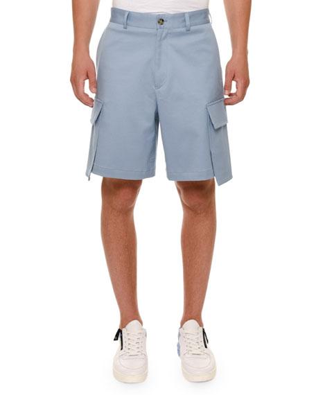 Oversized-Pocket Cargo Shorts