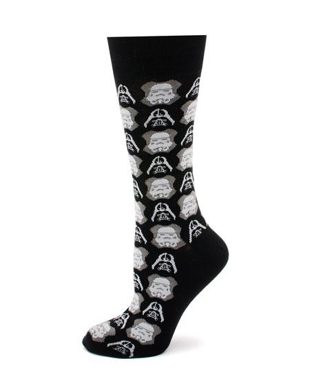 Cufflinks Inc. Star Wars Darth Vader and Storm Trooper Socks