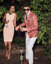 Image 2 of 4: Plaid Two-Button Wool/Linen/Silk Jacket, Coral