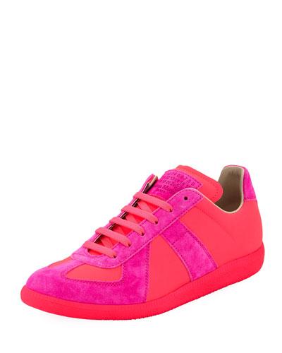 Men's Neon Replica Low-Top Sneakers