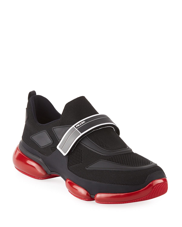 buckled runner sneakers - Blue Prada tUdJ0sz