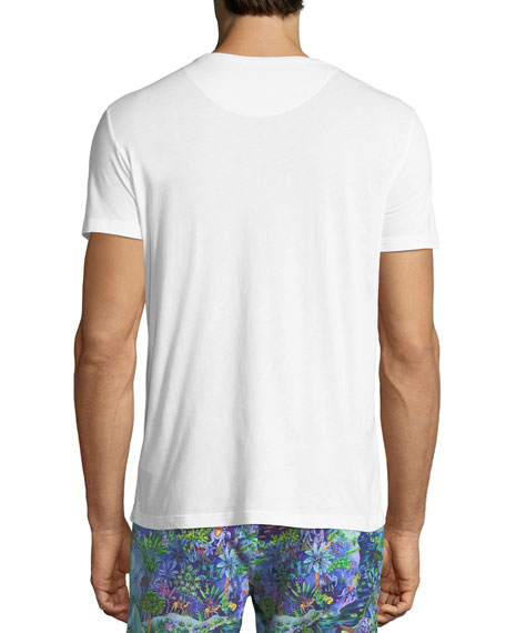 Riley Crewneck Jersey T-Shirt, White