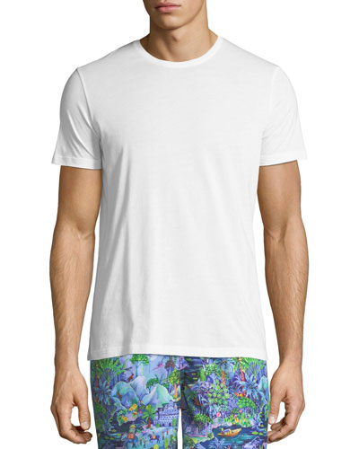 Riley Crewneck Jersey T-Shirt, White