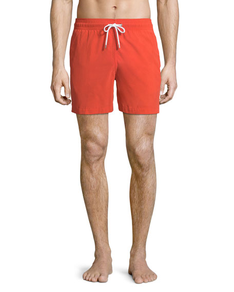 Derek Rose Aruba Classic-Fit Swim Trunks, Orange