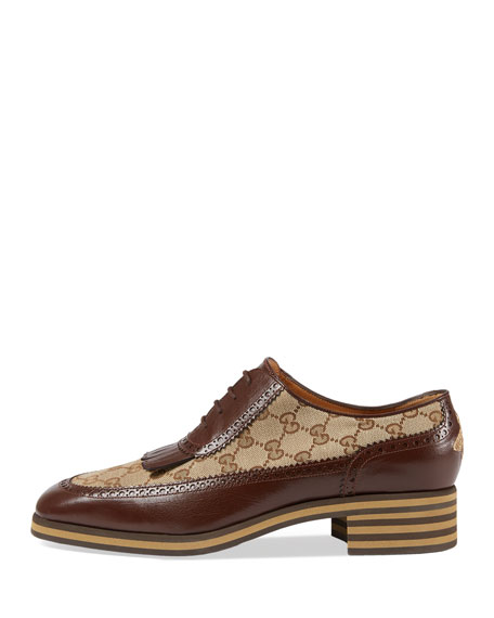 Leather and GG Brogue Shoe