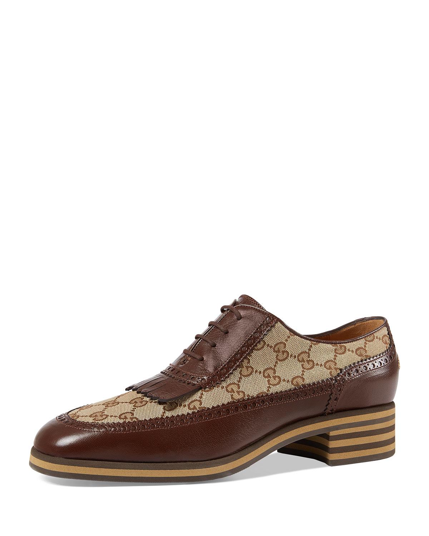 f3ff37c0de8e Gucci Leather and GG Brogue Shoe