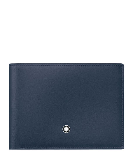 Image 1 of 2: Montblanc Meisterstuck Leather Bifold Wallet, Navy