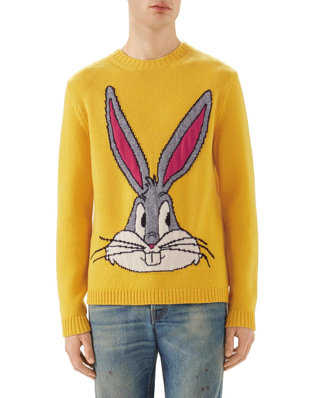 959cb9c1205 Gucci Bugs Bunny Intarsia Knit Sweater