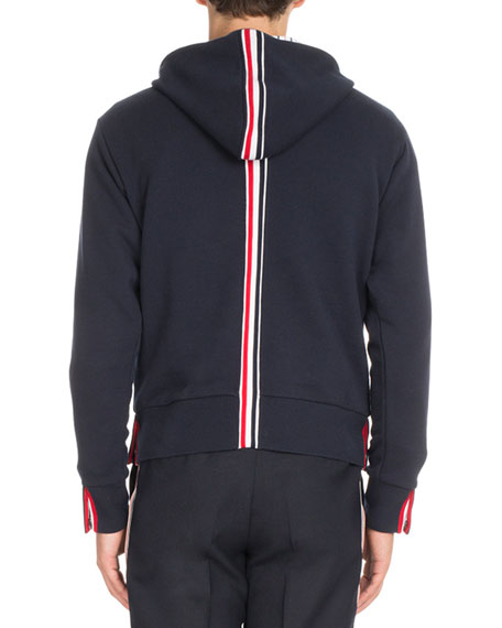 Striped-Back Pullover Hoodie