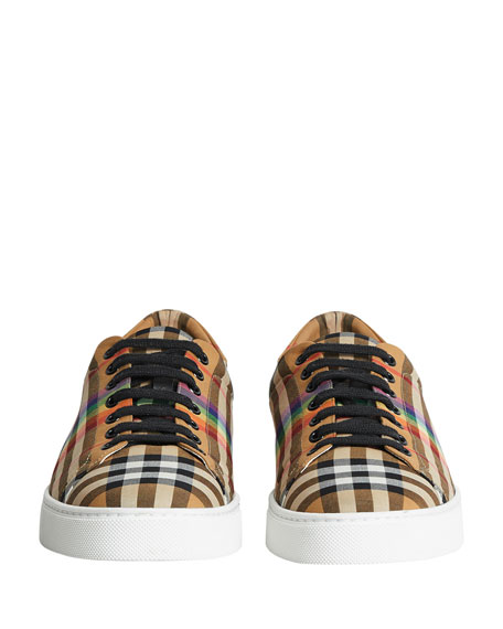 Men's Albert Rainbow Check Sneakers