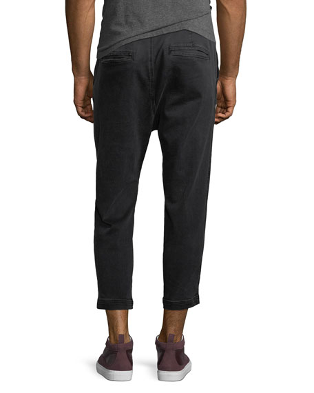 Men's Leo Drop-Crotch Drawstring Pants