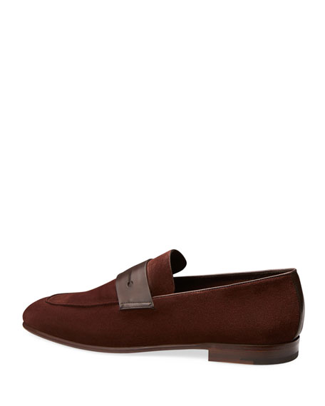 Flex Suede Penny Loafer, Brown