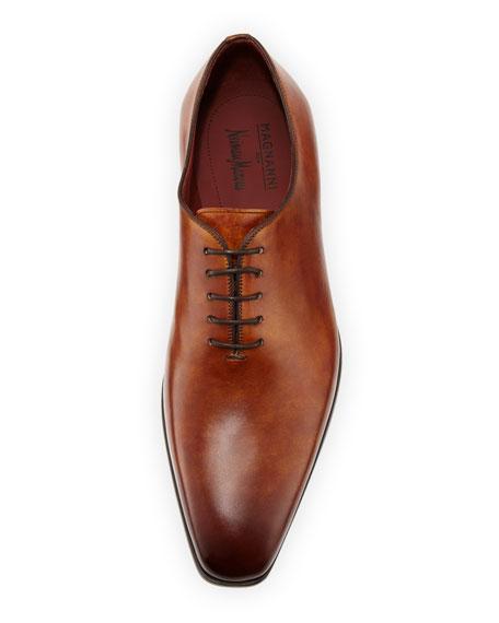 Men's One-Piece Leather Lace-Up Dress Shoe