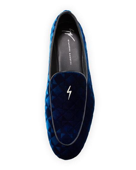 Suit Patterned Velvet Loafer
