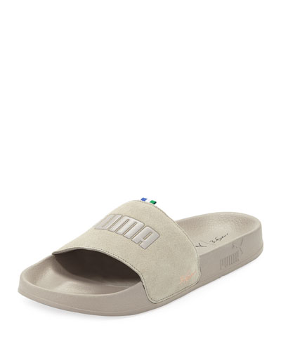 x Big Sean Suede Slide Sandal