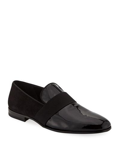 Men's Bryden Patent Leather & Suede Slip-On Dress Loafer Shoe