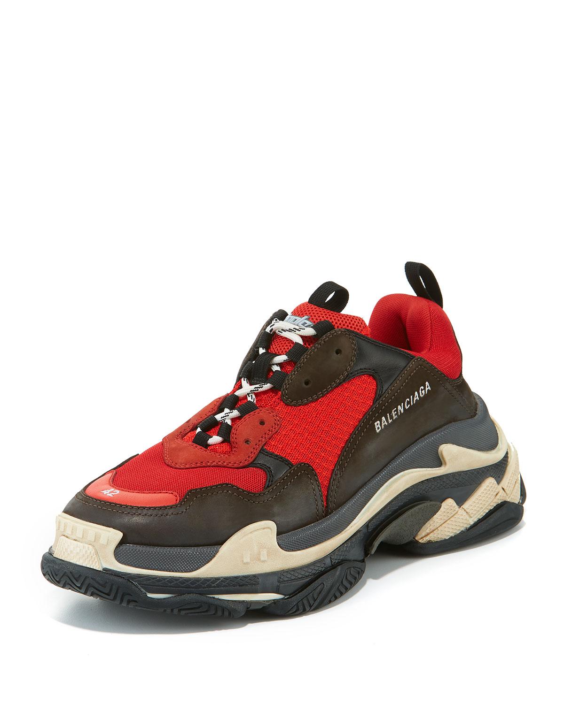 83c5048c1e6d Balenciaga Men s Triple S Mesh   Leather Sneakers