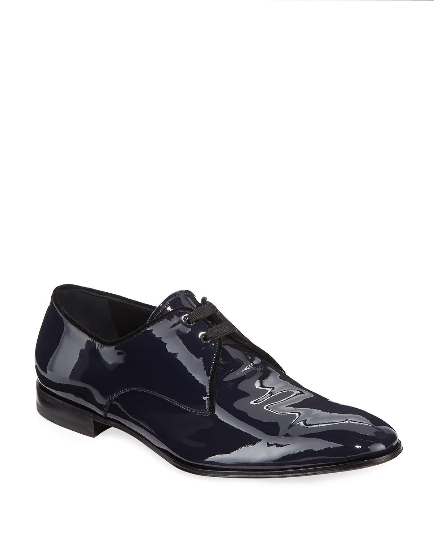 b37bd12a805f7 Salvatore Ferragamo Men's Broadway Patent Leather Oxford Shoe ...