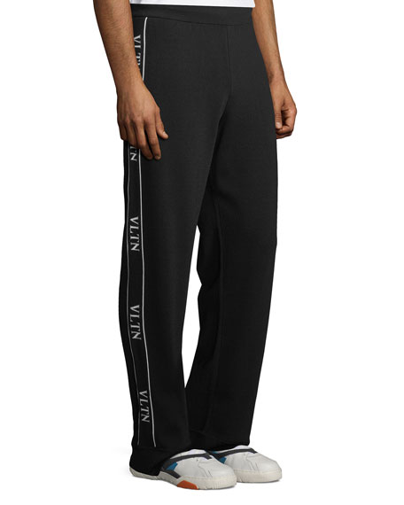 Image 4 of 5: Valentino Logo Side-Taping Track Pants