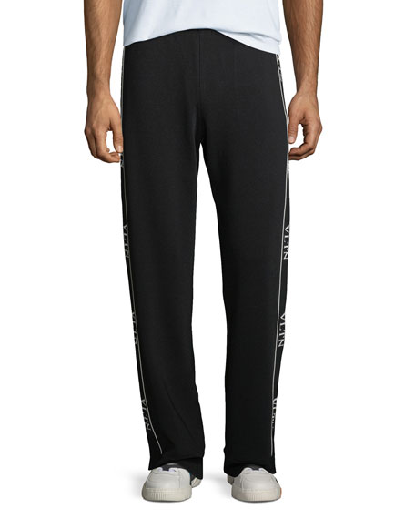 Image 1 of 5: Valentino Logo Side-Taping Track Pants
