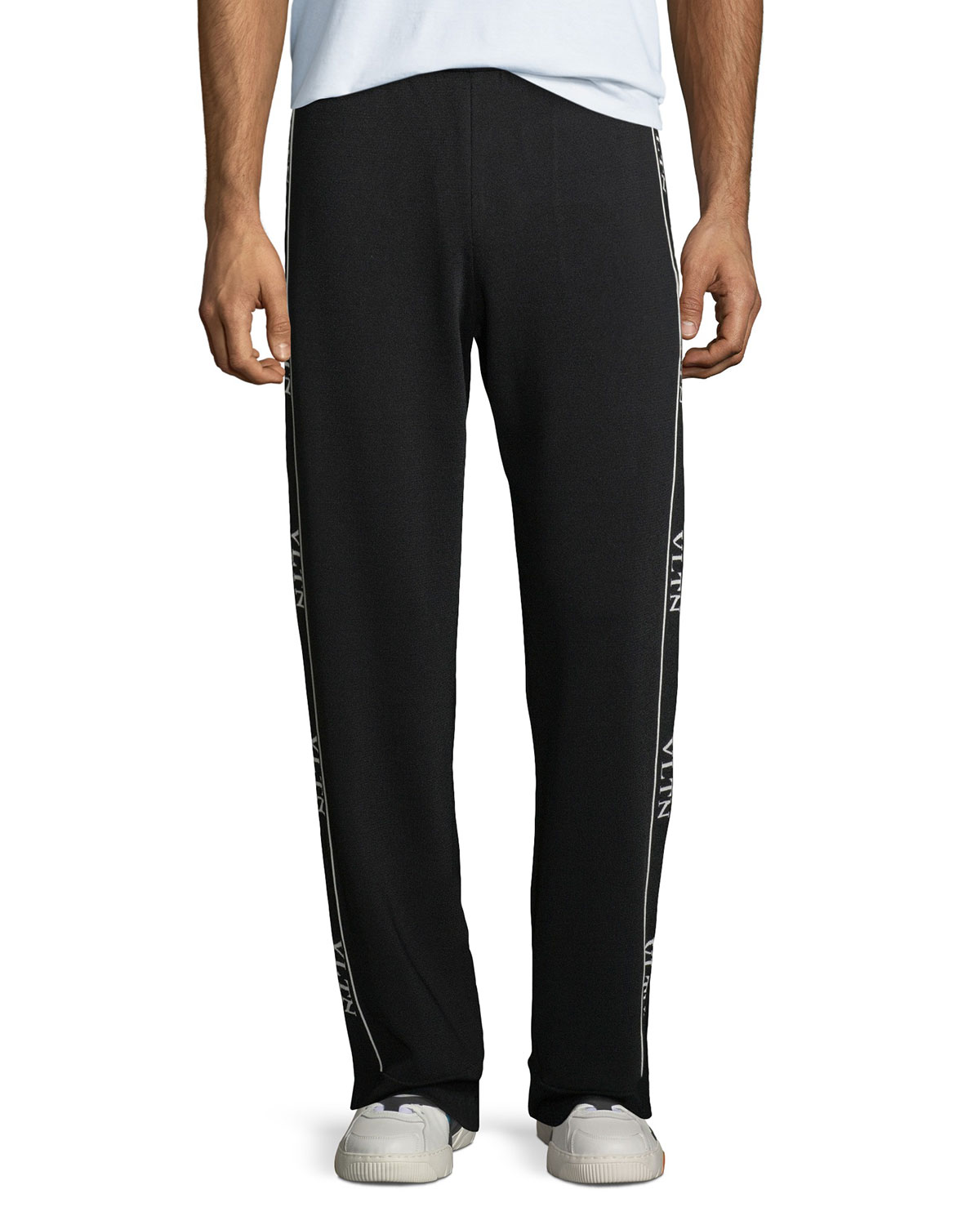 Valentino Logo Side-Taping Track Pants