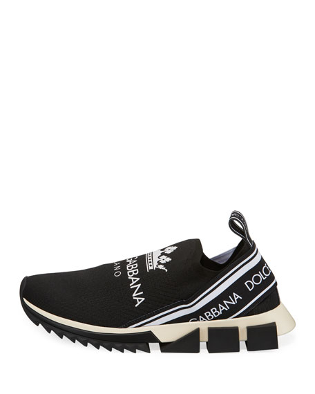 Men's Sorrento Logo-Stripe Slip-On Trainer Sneakers