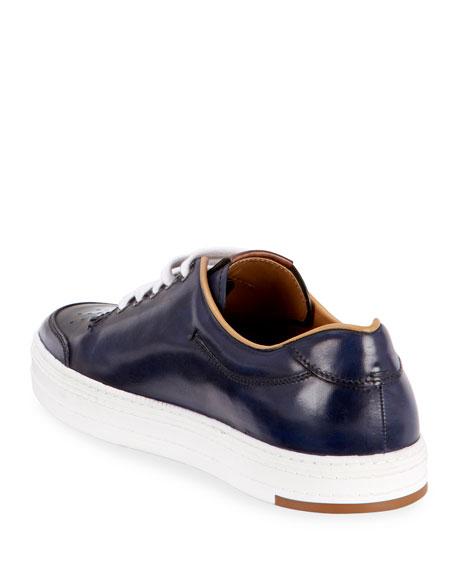 Berluti Men's Playtime Leather Low-Top Sneakers